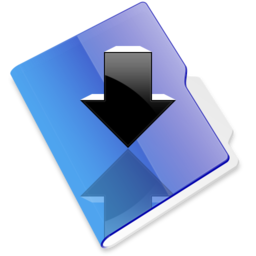 256x256px size png icon of Download folder