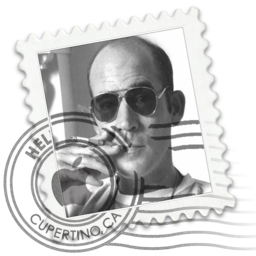 256x256px size png icon of Hunter S. Thompson Mai