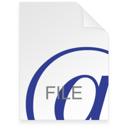256x256px size png icon of Internet Location File