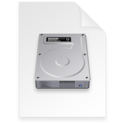 256x256px size png icon of disk image Document dark