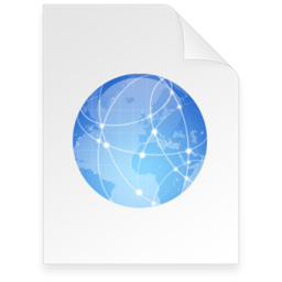 256x256px size png icon of internet Document