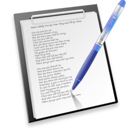 256x256px size png icon of pen & paper