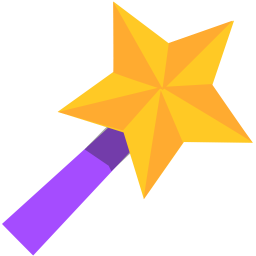 256x256px size png icon of Wand