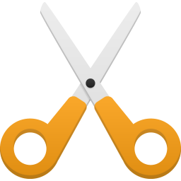 256x256px size png icon of cut