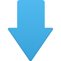 256x256px size png icon of down