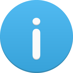 256x256px size png icon of information