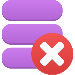 256x256px size png icon of data delete