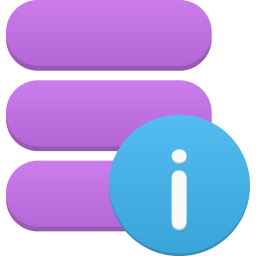 256x256px size png icon of data info