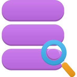 256x256px size png icon of data search