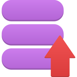 256x256px size png icon of data upload