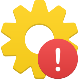 256x256px size png icon of process warning