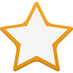 256x256px size png icon of star empty