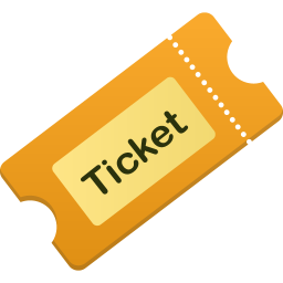 256x256px size png icon of ticket