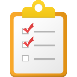 256x256px size png icon of Checklist