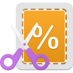256x256px size png icon of Coupon
