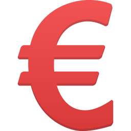 256x256px size png icon of Euro