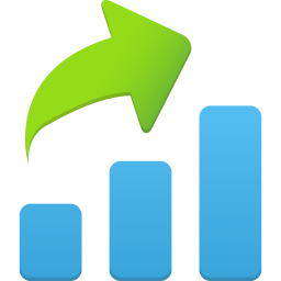 256x256px size png icon of Increase