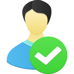256x256px size png icon of Male user accept