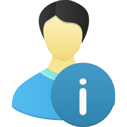 256x256px size png icon of Male user info