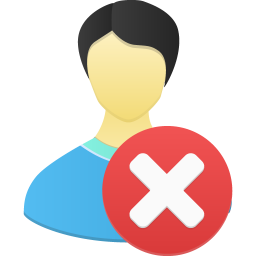 256x256px size png icon of Male user remove
