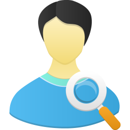 256x256px size png icon of Male user search