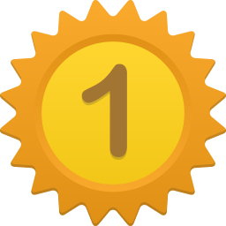 256x256px size png icon of Number 1