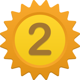 256x256px size png icon of Number 2