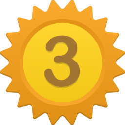 256x256px size png icon of Number 3