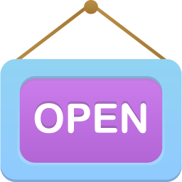 256x256px size png icon of Open