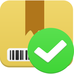 256x256px size png icon of Package accept