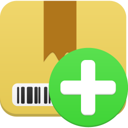 256x256px size png icon of Package add