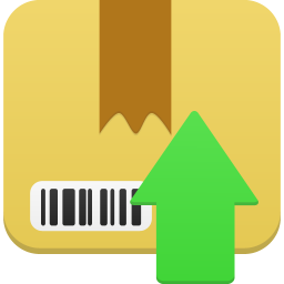 256x256px size png icon of Package upload