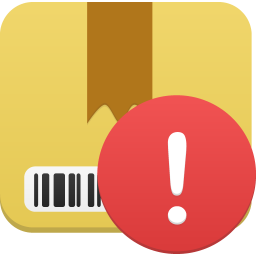 256x256px size png icon of Package warning