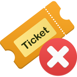 256x256px size png icon of Ticket remove