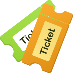 256x256px size png icon of Tickets