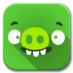 256x256px size png icon of Apps bad piggies