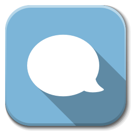 256x256px size png icon of Apps chat B