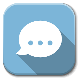256x256px size png icon of Apps chat