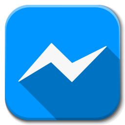 256x256px size png icon of Apps facebook messenger