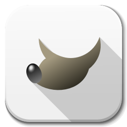 256x256px size png icon of Apps gimp