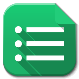 256x256px size png icon of Apps google drive forms