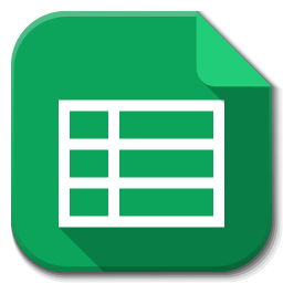 256x256px size png icon of Apps google drive sheets