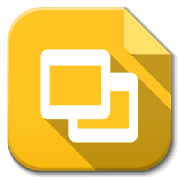 256x256px size png icon of Apps google drive slides