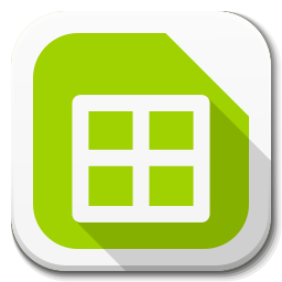 256x256px size png icon of Apps libreoffice calc B