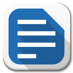 256x256px size png icon of Apps libreoffice writer B