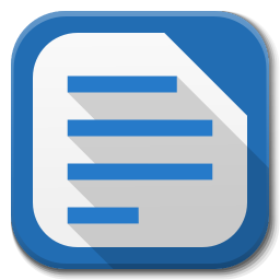 256x256px size png icon of Apps libreoffice writer