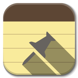 256x256px size png icon of Apps note taking app A