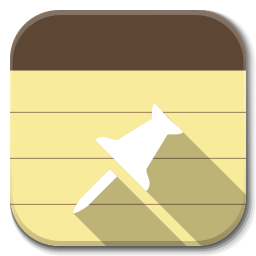 256x256px size png icon of Apps note taking app B