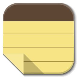 256x256px size png icon of Apps note taking app