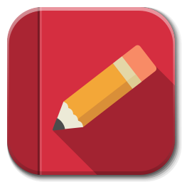 256x256px size png icon of Apps rednotebook